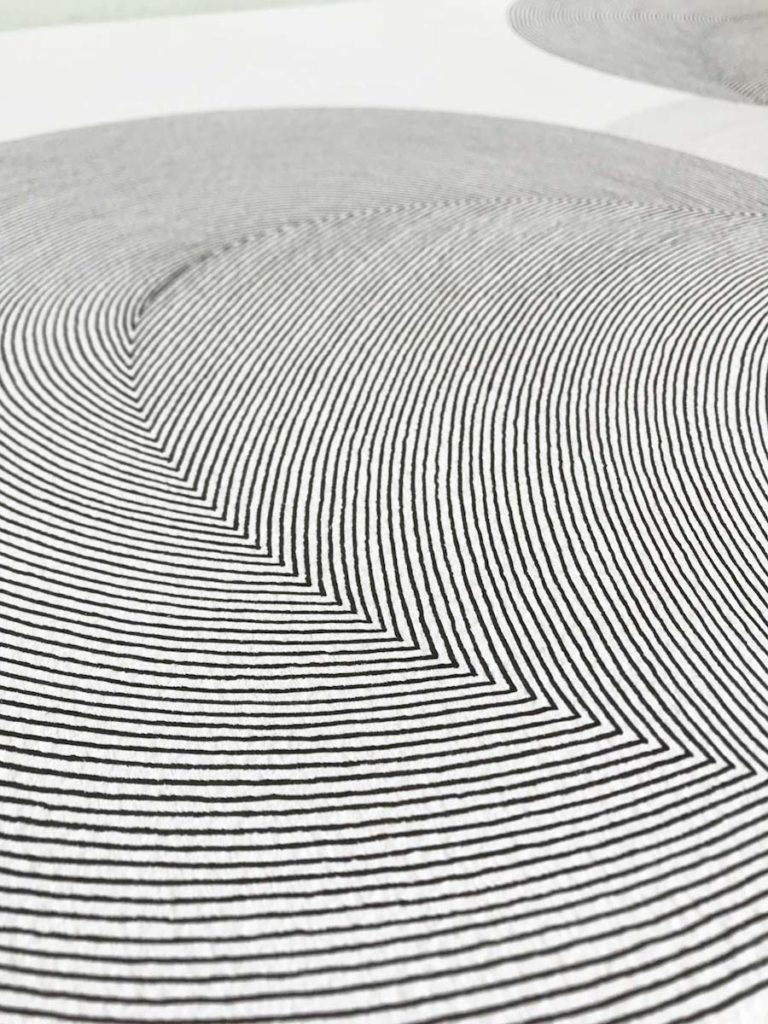 "Detalle de cerca de un cuadro de la serie serie ""concentricos"""