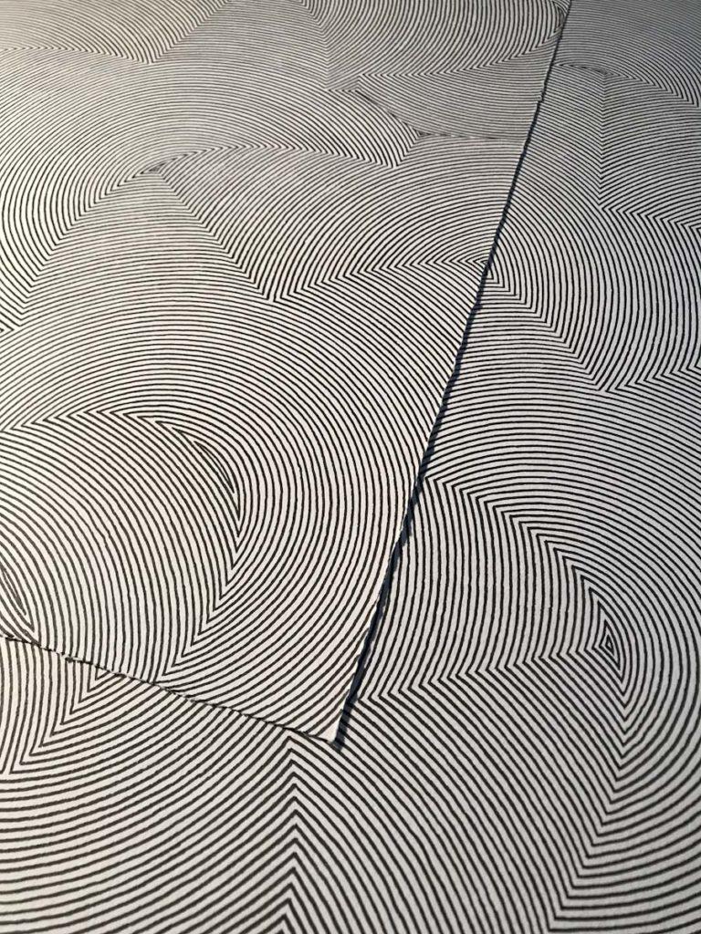 Detalle de las lineas en tinta.